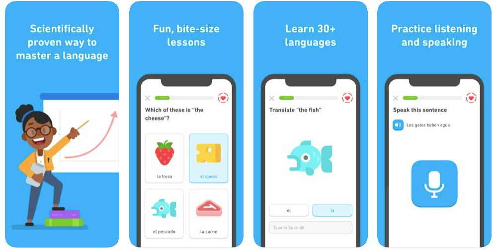 Duolingo App Screens