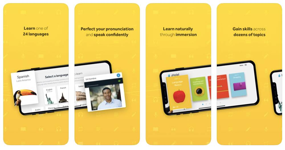 Rosetta Stone App Screens