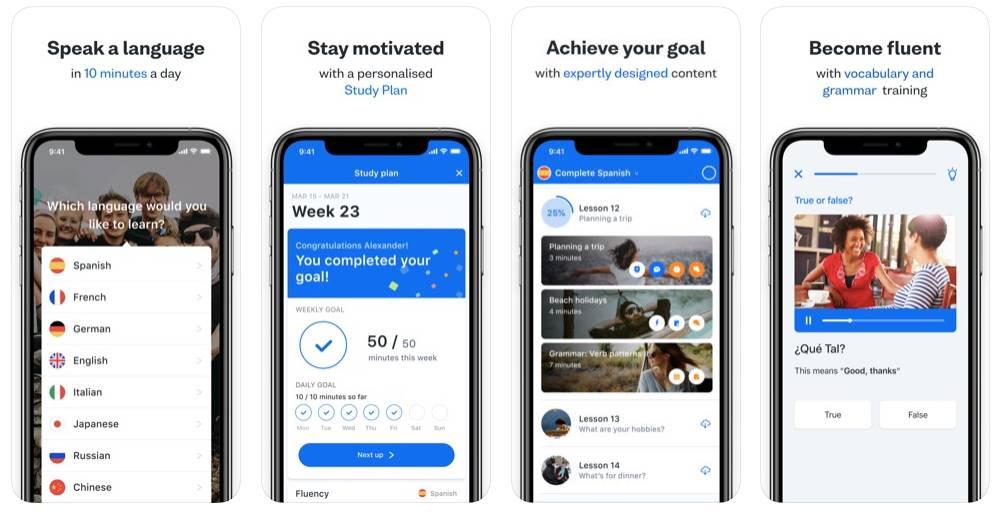 busuu App Screens