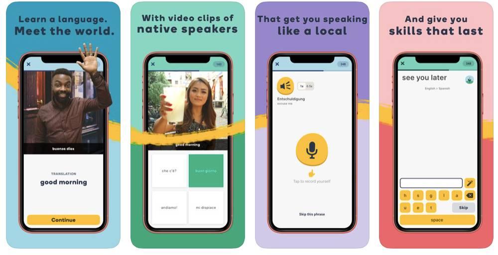 Memrise App Screens