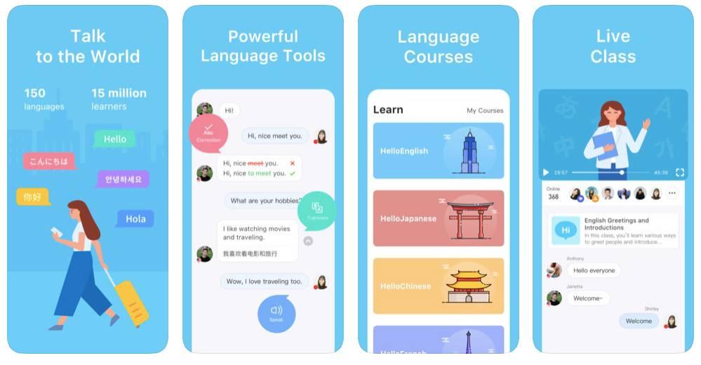 HelloTalk App Screens
