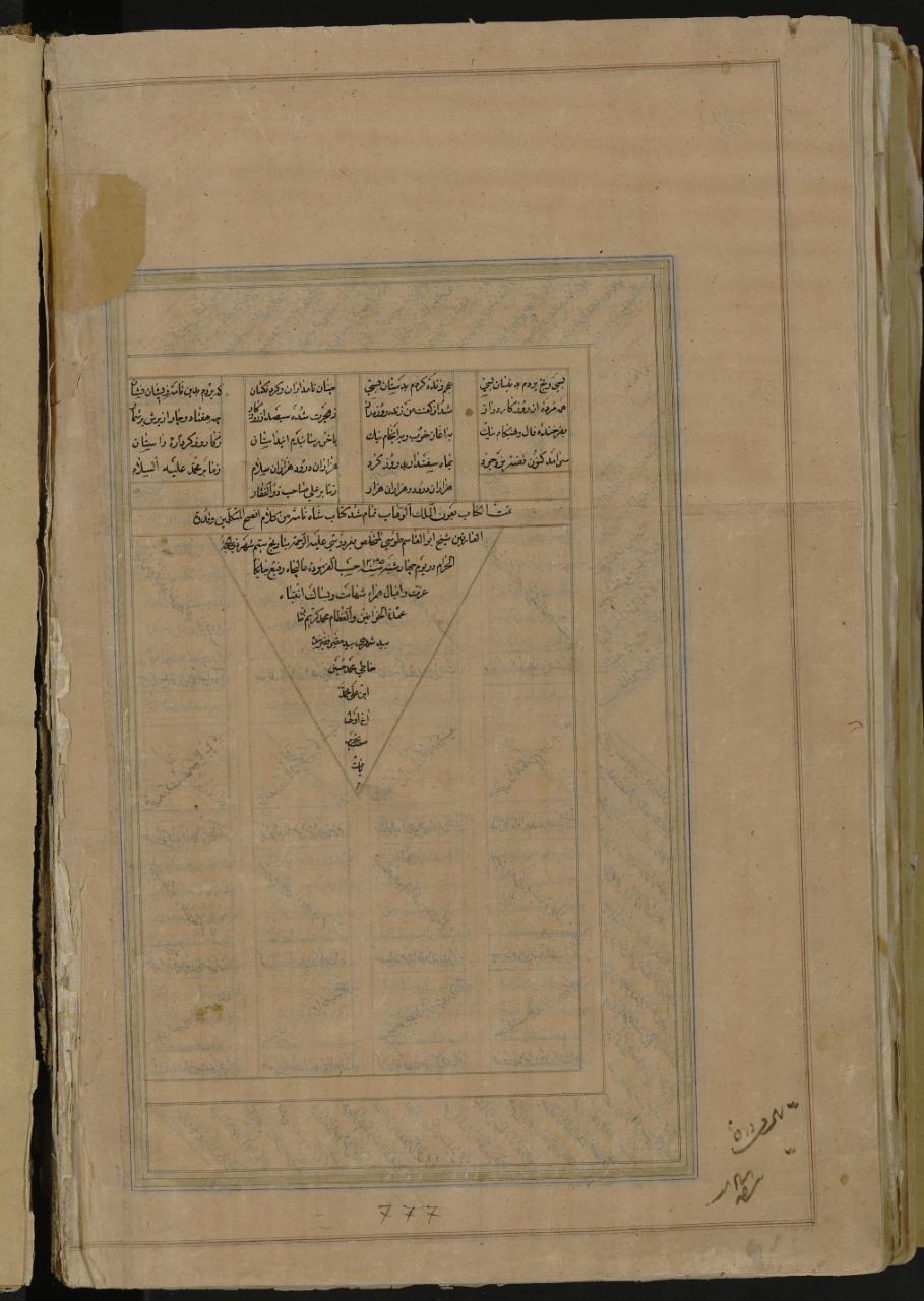 Manuscript page 535 384b of the Shahname from Matenadaran Yerevan Armenia