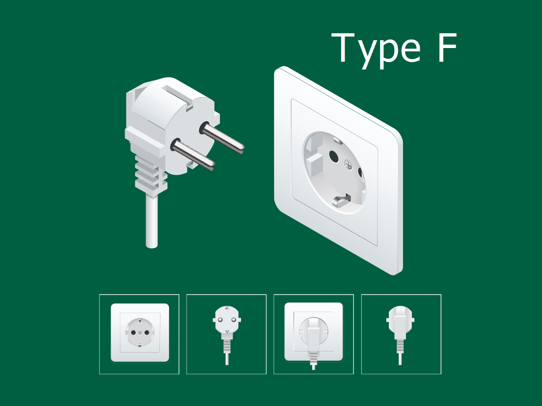 Type F socket and plug