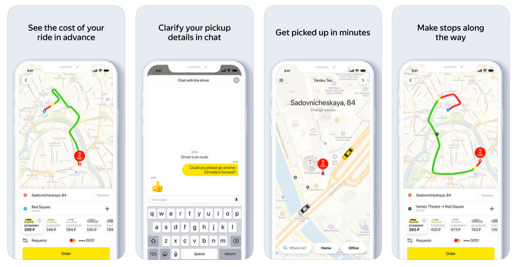 Yandex taxi app
