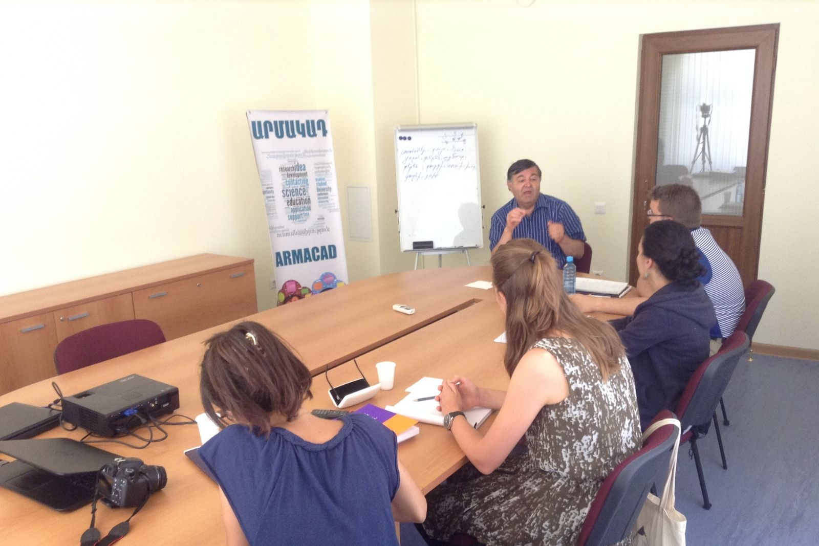 Professor Hayrapet Margaryan lectures for Armenian studies summer school 2014 participants