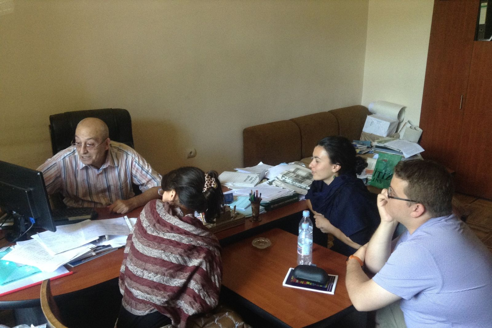 Prof. Pavel Avetisyan and the participants of Armenian Studies summer school 2014