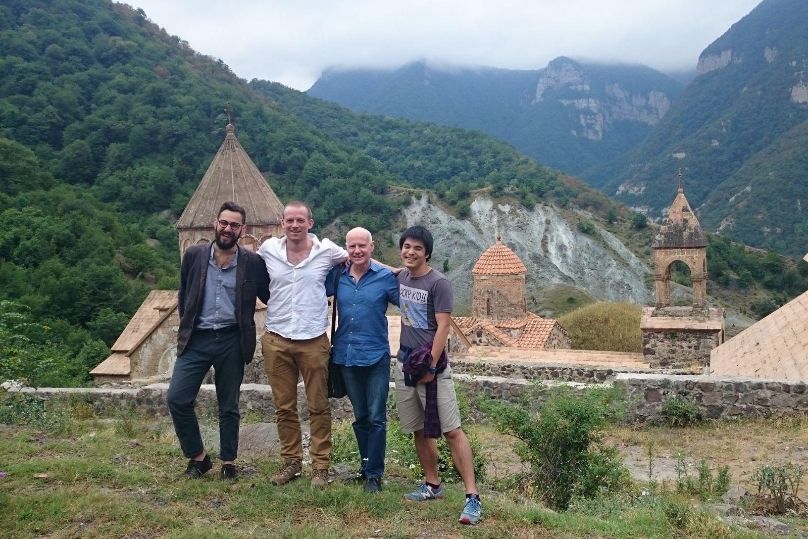 2016 Armenian Studies summer school participants at Dadivank monastery