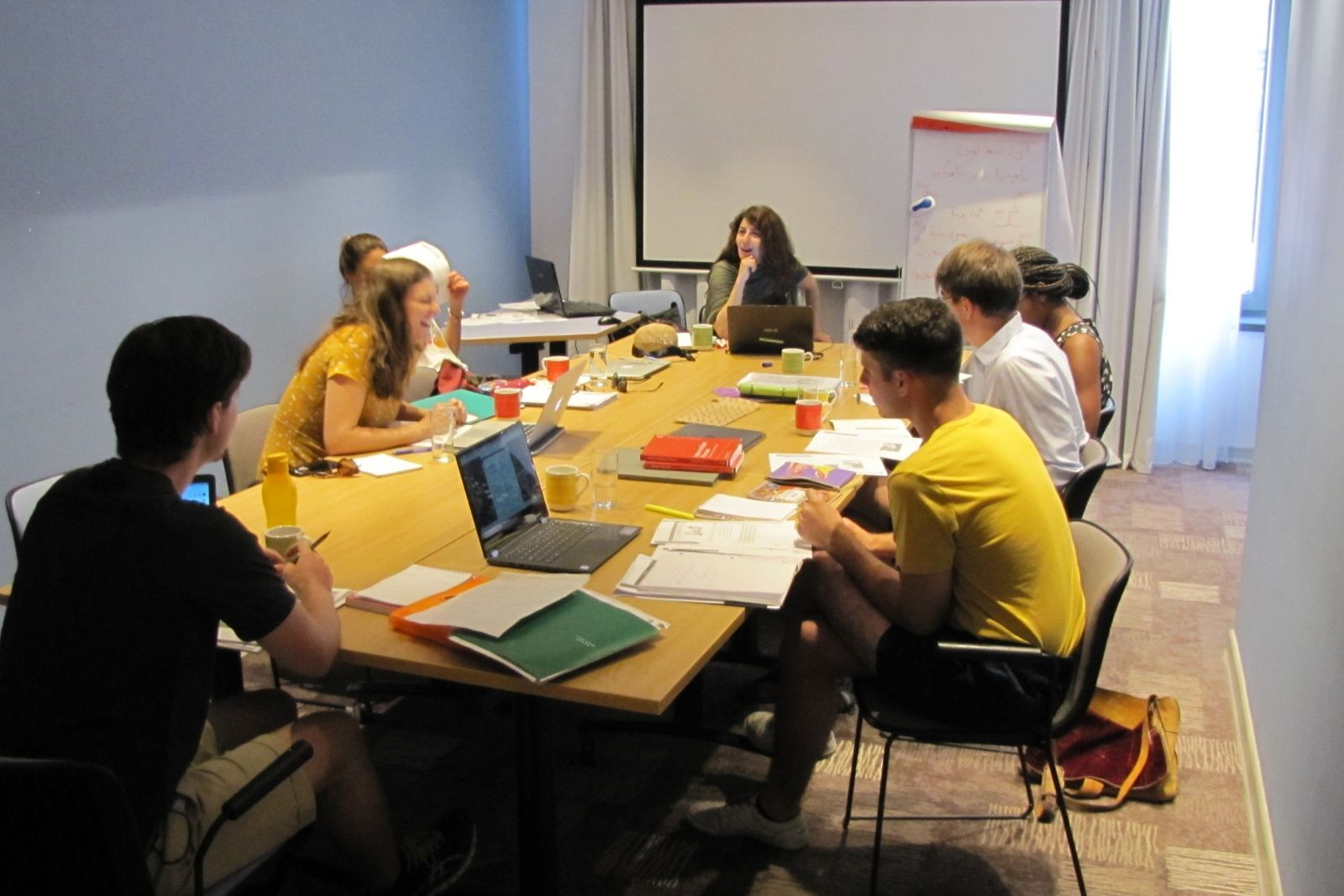 Persian language summer school students during the class in Yerevan, 2018