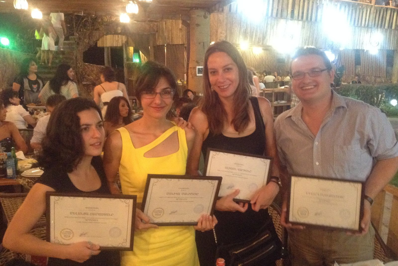 Participants of Armenian Studies summer school 2014 with their certificates
