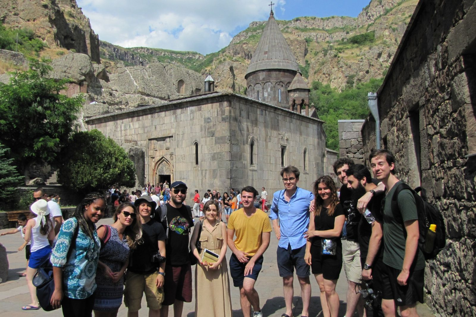 Participants of 2018 Armenian and Persian summer schools at Geghard monastery