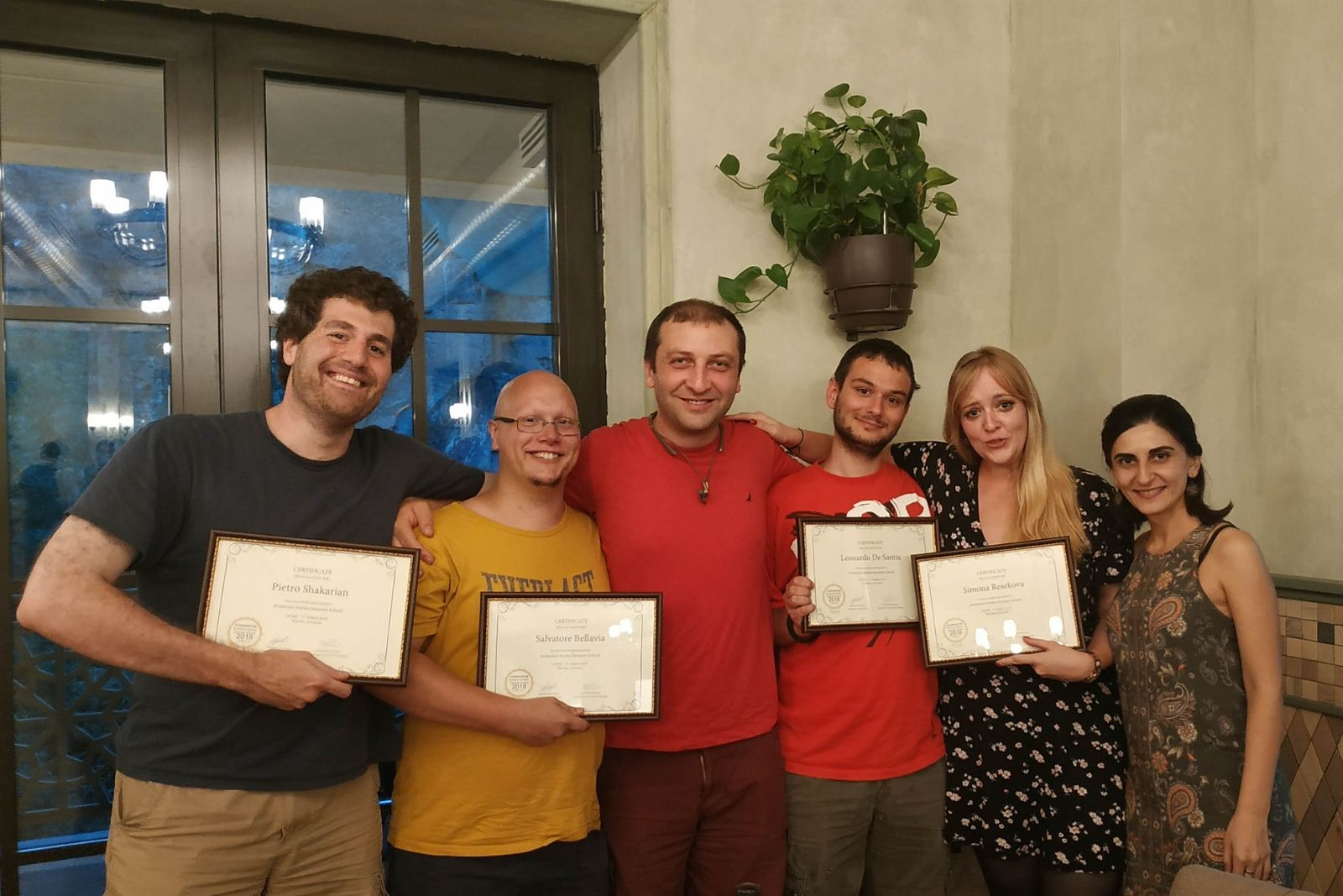 2018 Armenian language summer school participants received their certificates
